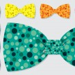 Постер, плакат: Polka dot bow tie set