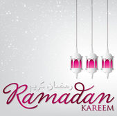"Latarnia ""ramadan kareem"" karty — Wektor stockowy"