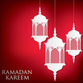 "Arabesque lantern set ""Ramadan Kareem"" — Vecteur"