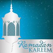 "Scheda ""ramadan kareem"" Lanterna — Vettoriale Stock"