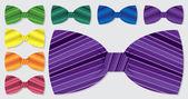 Polka dot bow tie set — Stock Vector