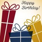 Bright retro present card — Stock Vector #50146573