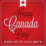 Happy Canada Day retro card — Stock Vector #50148549