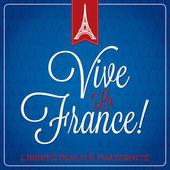 """Vive La France"" Bastille Day — Stock Vector"