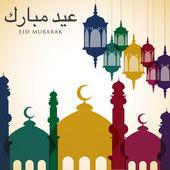 Bright Eid card — Stock Vector