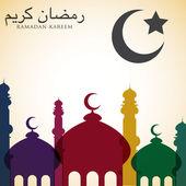 Bright Ramadan card — Stock Vector