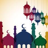 Bright Islamic card — Stock Vector