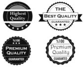 Collection of Quality and guarranty labels — Stock Photo