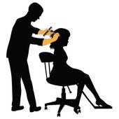 Kvinnlig frisör — Stockfoto
