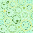 Vector seamless circles background - Stock Vector