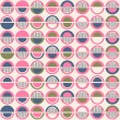 Abstract pattern with circle texture - Stock Vector