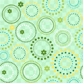 Vector seamless circles background — Stock Vector