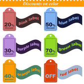 Discounts on color — Stock Vector