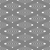 Optical illusion in zigzag pattern in black and white — Stock Vector
