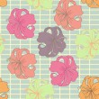 Vector flower pattern - Stock Vector