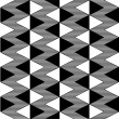 Triangle black and white seamless pattern - Stock Vector