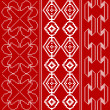 Traditional red and white pattern - Stock Vector