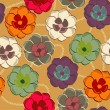 Pattern with floral background - Stock Vector