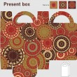 Box template. Ornaments pattern - Vettoriali Stock 