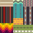 Set of ethnic patterns — Vector de stock