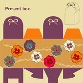 Template for present box — Stock Vector