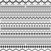 Texture with geometrical ornaments - black & white — Stock Vector