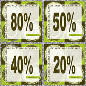 Coupon for shopping - SALE — Stock Vector