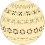 ビンテージ円のパターン — ストックベクタ