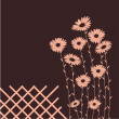 Royalty-Free Stock Vectorielle: Daisies - card with place for text