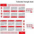 Office 2013 year calendar triangle desk - Stock Vector