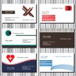Set of business cards — Stock Vector #20068643