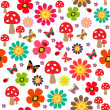 Happy spring pattern - Stock Vector