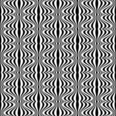 Pattern - Optical illusion with geometric drawing — Stock Vector