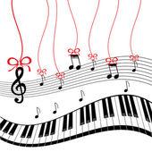 Background - piano music — Stock Vector