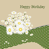 Birthday card with flower — Stock Vector