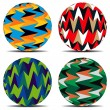 Royalty-Free Stock Imagem Vetorial: Set of colorful background on balls