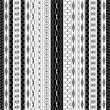 Geometric border patterns in black and white — Imagens vectoriais em stock