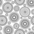 Pattern - Circles & dots - black & white — Stock Vector #30857001