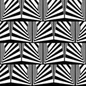 Optická iluze v černé a bílé — Stock vektor