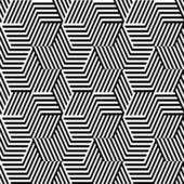 Pattern with line black and white in zigzag — Stock Vector