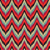 Sem costura padrão geométrico em ziguezagues — Vetor de Stock
