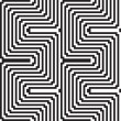 Pattern in black and white - optical illusion — Stock Vector