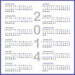 Simple 2014 year calendar — Stock Vector