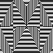 Black and white zigzag pattern - optical illusion — Stock Vector