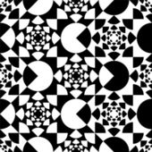 Pattern with circle black and white — Stock Vector