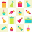 Birthday Party pattern — Stock Vector
