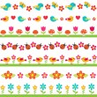 Royalty-Free Stock Vector Image: Cute seamless borders