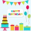 Birthday party card - Stock Vector