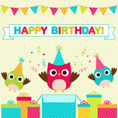 Birthday party card — Vettoriale Stock