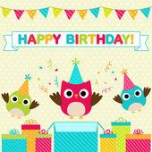 Tarjeta de cumpleaños fiesta — Vector de stock